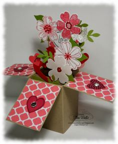 Stampin' Up! Valentine by The Serene Stamper: Card in a Box Valentine