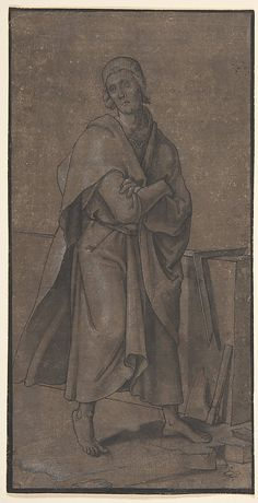 Saint Thomas  Hans Holbein the Younger, 1527 Medium: Pen and black ink, brush and gray wash, heightened with white