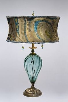 Lucia: Caryn Kinzig and Susan Kinzig: Mixed-Media Table Lamp - Artful Home