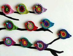 Pajaritos en crochet