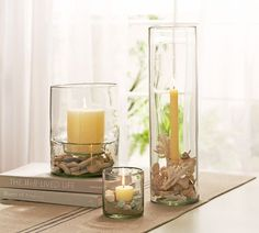 Glass Display Hurricanes, Small Pillar, $39