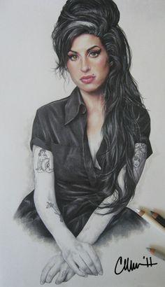 Amy Winehouse Drawing by Live4ArtInLA.deviantart.com