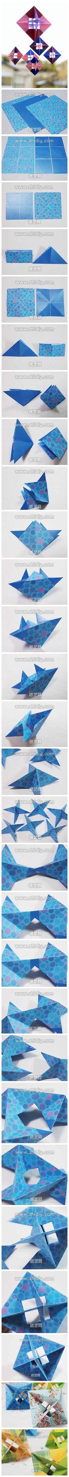 Fascino di tessuto fatto a mano tutorial di origami di carta fai da te derivata esercitazione origami diagrammi