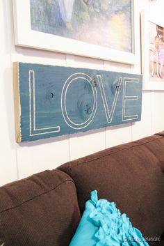 EASY carved Love sig