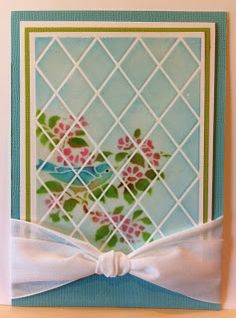 Amazing faux window design card by Louise Healy. Complete tutorial on how to do this!