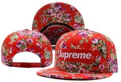 Supreme Flower Snapback Hat (5) , cheap discount  $5.9 - www.hatsmalls.com