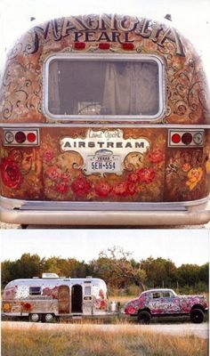 magnolia pearl--love the airstream but I would pull it with a vintage Ford truck in mint green :)
