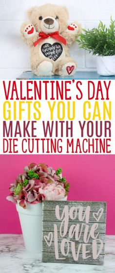 Are you ready for Valentine's Day? You might not make a big deal out of it, but it can be a nice occasion for giving a little handmade gift to someone special. We've rounded up some great ideas for Valentine's Day Gifts You can Make with Your Die Cutting Machine. #cricut #diecutting #diecuttingmachine #cricutmachine #cricutmaker #diycricut #cricutideas #cutfiles #svgfiles #diecutfiles #diycricutprojects #cricutprojects #cricutcraftideas #diycricutideas #valentine #valentinesday