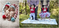 Newborn to One Year Thing One & Thing Two | amylorrainephotography.com