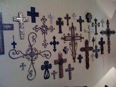 wall decor with crosses, different crosses, cross wall, crosses decor on wall, project idea, crosses on wall, hous, design idea, decor idea
