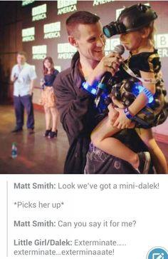 Matt and a mini Dalek.