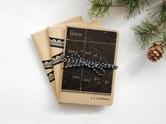 Set of handmade mini literary journals. Great hostess gifts to keep on hand at an amazing price!