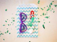 Mermaid party favor bag