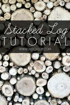 How to create a stacked log fireplace | LiveLoveDIY