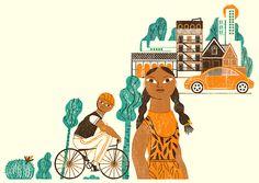 Press Illustration - Illustrator: Mar Hernández. Amazing work.