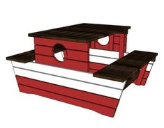 Kids Picnic Table. Build your own Pirate Picnic Table! Free #Plans at Ana-White.com
