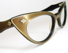 Vintage 50s Eyewear -My grandmother had a pair of glasses like this and now I wear them! Love them!