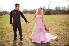 PINK WEDDING DRESS YES! wedding dressses, pink wedding dresses