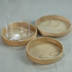 Kami Wood Nesting Coasters, Set of 3  $60.00