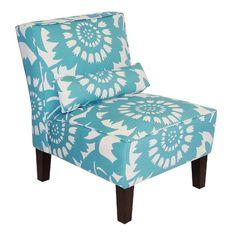 Skyline Furniture Armless Chair in Gerber Surf