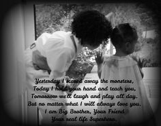 Big Brother Little Sister Love, #Quotes, #Sibling