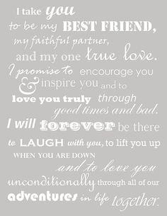 vows of true love