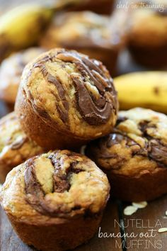 Nutella Banana Oat Muffins | Chef in Training