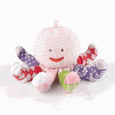 Sock Octopus Baby Gift Set - Girl