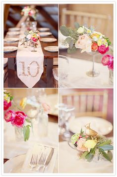 Like the table numbers on the table runners.