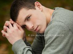 cool senior boy pose