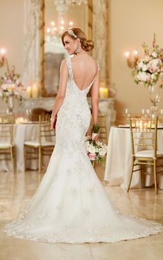Wedding Dresses - Vintage Fit-and-Flare Wedding Dress by Stella York - Style 5948