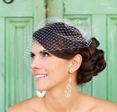 Birdcage Veils And Advice With One Little Dove
