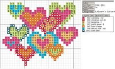 bright hearts to stitch stitch heart, charts, bright heart, pattern, crossstitch, beads, crosses, cross stitches, crafts