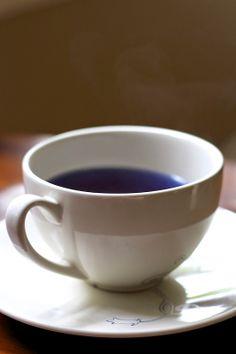 herbal blue, blue tea