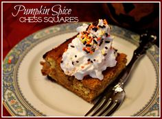 Sweet Tea and Cornbread: Pumpkin Spice Chess Squares!