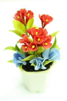 Miniature Polymer Clay Flowers Supplies for Dollhouse