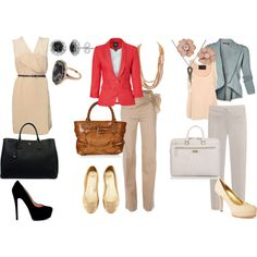 professional clothes for women. Maybe too flashy for my line of work