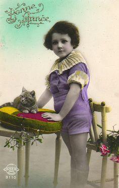 Child with Pet Cat