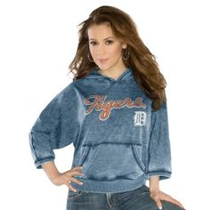 Touch by Alyssa Milano Detroit Tigers Ladies Star Player Pullover Hoodie - Navy Blue