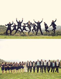 Poses for wedding party.