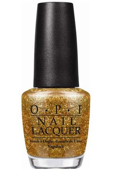 Best Holiday Nail Polishes 2012 - OPI Nail Lacquer in Goldeneye, $8.50
