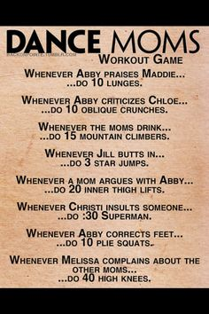 Dance moms workout game- good to loose calories FAST