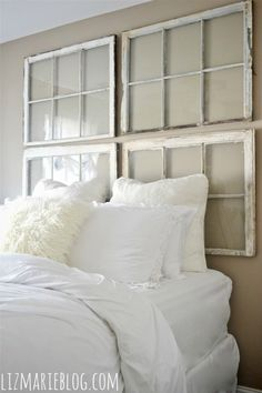 Creative DIY Headboards :: Becky Cs clipboard on Hometalk this is amazing Id be afraid of them breaking over my head in an earth quake but none the less gorgeous idea