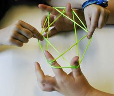 Playing Cat's Cradle. Wish I remembered how to do this!