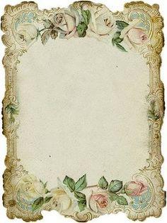 pretty #stationary #printables #vintage #roses by thelma