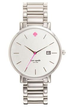 Sneak of pink Style, York Gramercy, Spade Watches, Gramercy Grand, New York, Bracelets Watches, Kate Spade, Katespade, Stainless Steel