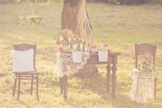 ♥Inspiração:Casamento no jardim... | .