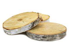 "One Kings Lane - Raw Materials - 18"" Birch Tree Wood Slab Centerpiece"