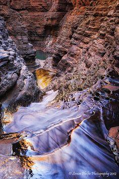 Regans Pool, Hancock Gorge, Karijini National Park, Western Australia. #Australia