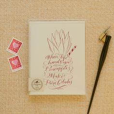 These calligraphy cards mix old and new in the best way possible.